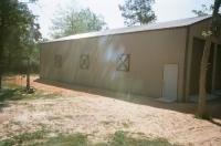 30x60x14. Hichory moss walls, burnish slate roof and trim