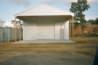 30x40x14, 16\' extended roof line galvanized roof, walls, and trim