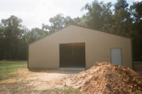 40x60x10, Saddle tan walls, white roof, Coco brown trim