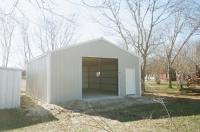24x30x10, Hickory moss walls, white trim