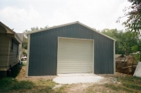 24x30x10, Hawaiian blue walls, white trim and roof